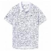 Camisa Polo Lacoste Novak Djokovic - Branca e Preta