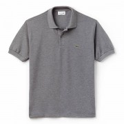 Camisa Polo Lacoste Classic Fit - Cinza