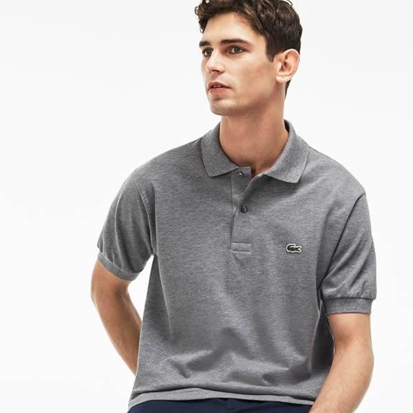 Camisa Polo Lacoste Classic Fit - Cinza - Oficina do Tenista 85cda28f04