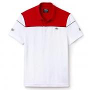 Camisa Polo Lacoste Sport Novak Djokovic -  Detalhe Vermelho