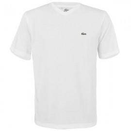 Camiseta Lacoste Gola V - Branco