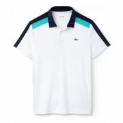 Camisa Polo Lacoste Sport - Branca e Marinho