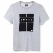 Camiseta Lacoste Sport - Cinza e Preto