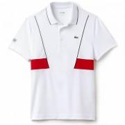 Camisa Polo Lacoste Novak Djokovic -  Branco e Vermelho