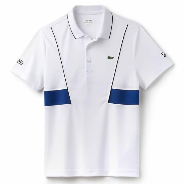 Camisa Polo Lacoste Novak Djokovic - Marinho e Branco - Oficina do ... a9938e031d