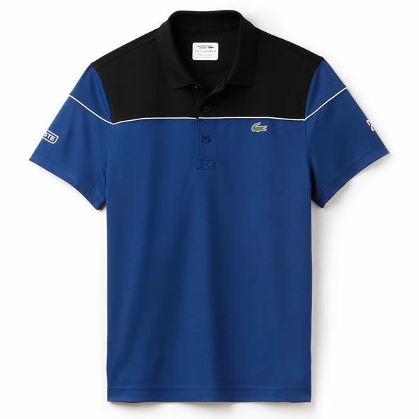 0d9e5e94a4 Camisa Polo Lacoste Novak Djokovic - Preto e Marinho - Oficina do ...