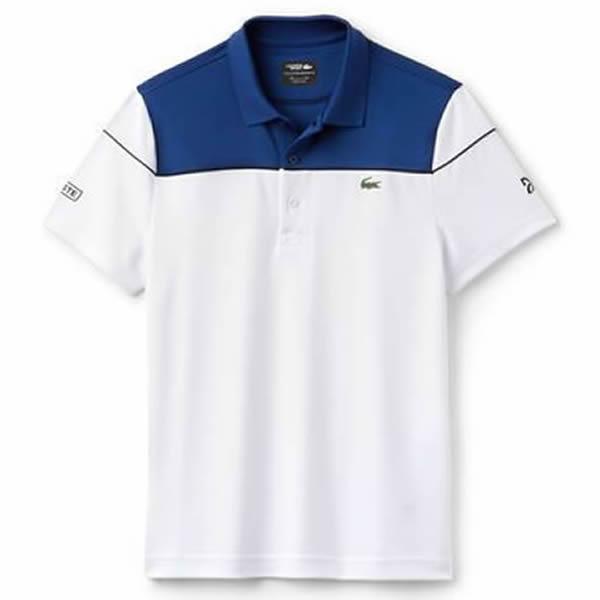 3c04371c25 Camisa Polo Lacoste Novak Djokovic - Marinho e Branco - Oficina do ...
