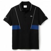Camisa Polo Lacoste Novak Djokovic - Preto e Marinho
