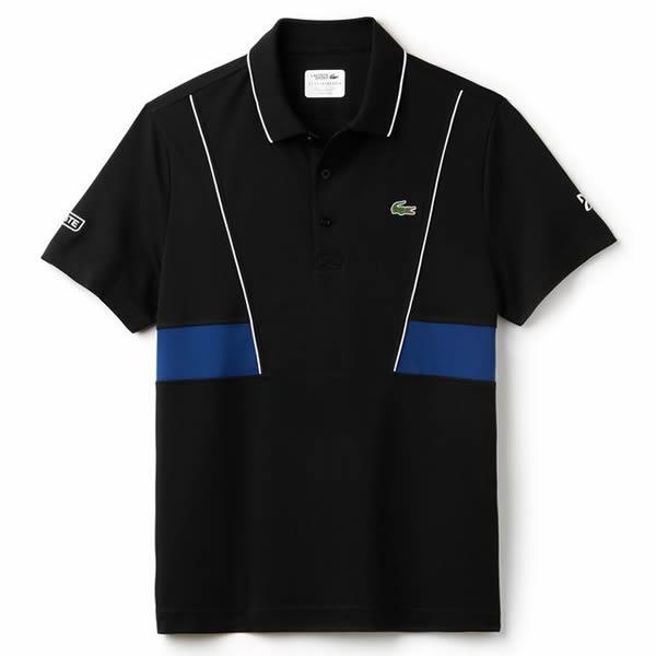 Camisa Polo Lacoste Novak Djokovic - Preto e Marinho - Oficina do ... c39c5dbe8c