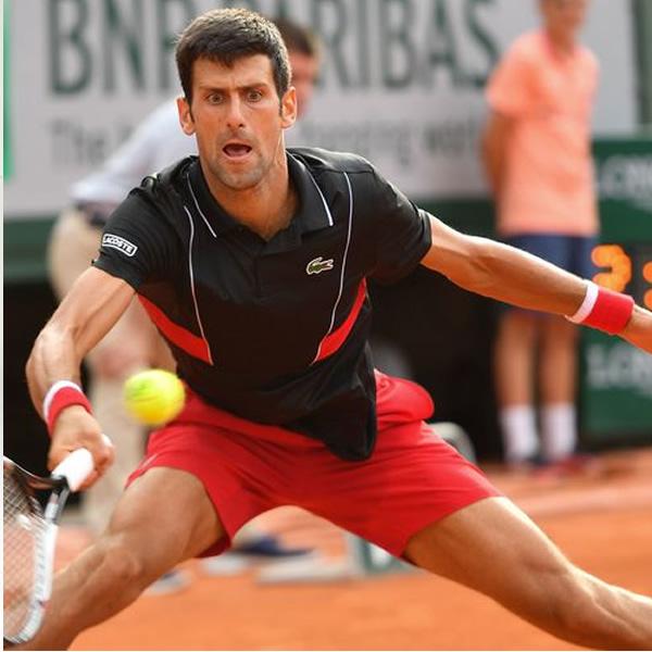 3f828a0d71 Camisa Polo Lacoste Novak Djokovic - Preto e Vermelho - Oficina do ...