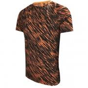 Camiseta Nike Dry Squad - Preta e Laranja