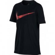 Camiseta Nike Infantil Dry Top SS - Preto e Vermelho