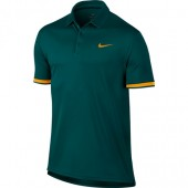 Camisa Polo Nike MC Dry Team - Verde e Laranja