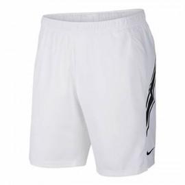 Shorts Nike Dry 9 - Branco e Preto