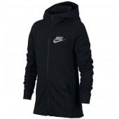 Moletom Nike Infantil Sportswear Hoodie - Preto