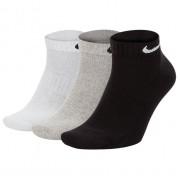 Meia Nike Everyday Cushion Cano Baixo Branca, Cinza e Preta - 3 pares 39 a 43