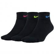 Meia Nike Performance Cushion Cano Médio Preta - 3 pares 34 a 38