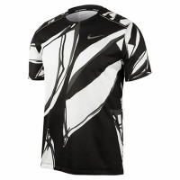Camiseta Nike Miler Fiesta - Preta e Branca