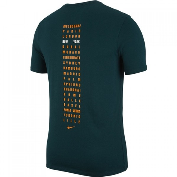 aa53519634 Camiseta Nike RF - Verde e Laranja - Oficina do Tenista