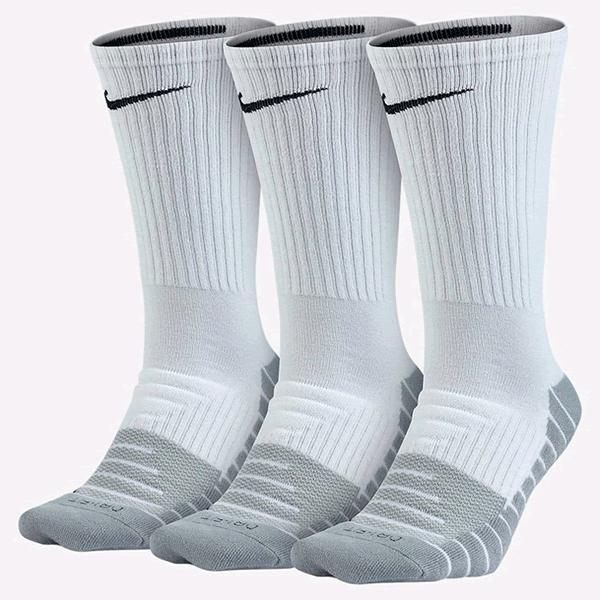 4b0bfda788 Pack Meia Nike Cano Alto Branca e Cinza - 3Und - Oficina do Tenista
