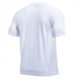 Camiseta Under Armour Threadborne Center Court V Tennis - Branca