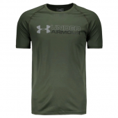 Camiseta Under Armour Wordmark  - Verde Musgo