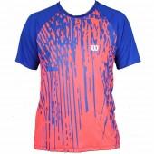 Camiseta Wilson Performance II - Azul e Laranja