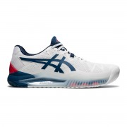 Tênis Asics Gel Resolution 8 Clay - Branco e Azul Mako