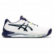 Tênis Asics Gel Resolution 8 Clay - Branco e  Peacoat