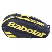 Raqueteira Babolat Pure Aero 2021 X6 - Preto e Amarelo