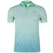 Camisa Polo Fila Aztec Box Net - Verde e Azul