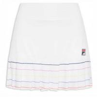 Saia Short Fila Colors Pinstripes - Branca