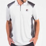 Camisa Polo Fila Fusion Plaid - Branco