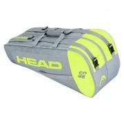 Raqueteira Head Core 6R Combi - Cinza e Amarelo
