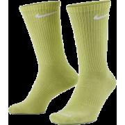 Meia Nike Everyday Lightweight Cano Alto Branca, Lima e Verde - 3 pares 39 a 43