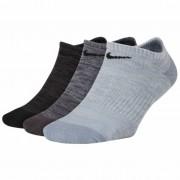 Meia Nike Everyday Cushion Cano Invisível Azul, Preta, Cinza - 3 pares 34 a 38