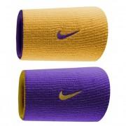 Munhequeira Nike Dri-Fit Dupla Face Roxo e Amarelo - 2Und