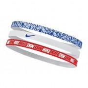 Faixa de Cabelo Nike Hairbands - Azul / Vermelho / Branco