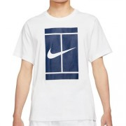 Camiseta Nike Court Logo Tee - Branca