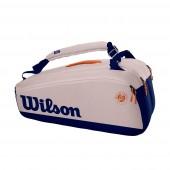 Raqueteira Wilson Roland Garros Premium X9 - Cinza e Marinho