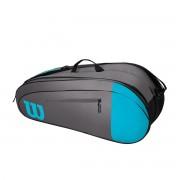 Raqueteira Wilson Team X6 - Cinza e Azul