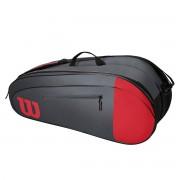 Raqueteira Wilson Team X6 - Cinza e Vermelho