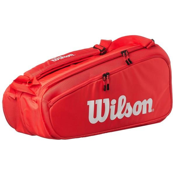 Raqueteira Wilson Super Tour X9 - Vermelha
