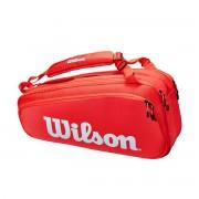 Raqueteira Wilson Super Tour X6 - Vermelho