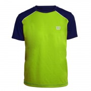 Camiseta Wilson Tour SS Tee III K Infantil - Verde Lima e Marinho
