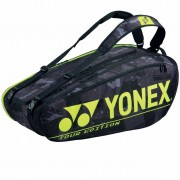 Raqueteira Yonex Tour Edition 9R - Preto e Amarelo