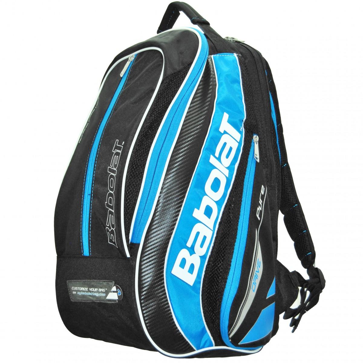 Mochila babolat pure drive preta e azul oficina tenista for Mochila oficina